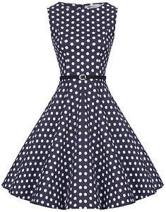 31625c96831643 Das Bild wird geladen Zarlena-Damen-Vintage-Rockabilly-Audrey-Hepburn-Kleid- Petticoat-