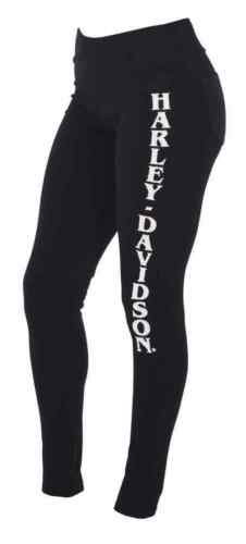d Embellished davidson Harley Black Back Leggings Pockets Women's W H wqTRABRU