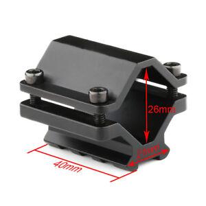 Tactical-Single-Rail-Picatinny-Weaver-Barrel-Mount-with-3-Slots-Clamp-Set-Black