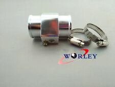 28mm Water Temp Temperature Joint Pipe Sensor Gauge Radiator Hose Adapter Silver