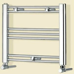 Details About Small Electric Dual Fuel Chrome Heated Towel Radiator Rail Caravan Kitchen