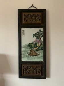 Beautiful-Painted-Chinese-Porcelain-Panel