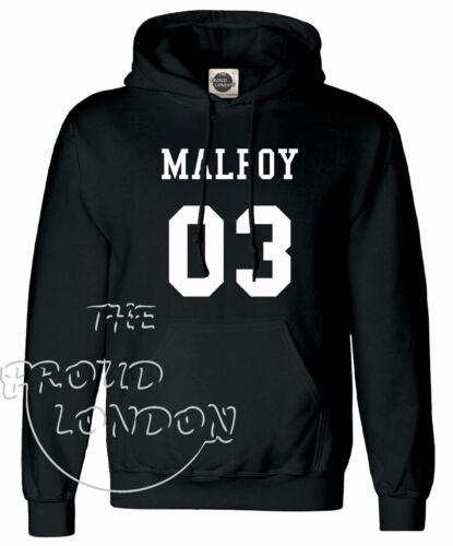 Malfoy 03 Casa di Serpeverde FUNNY Magic fashion regalo Unisex Pullover con Cappuccio