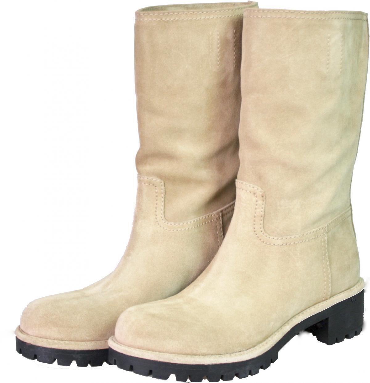 AUTHENTIC LUXURY PRADA BOOTS 3U5901 BEIGE SUEDE NEW US 9 EU 39 39,5 UK 6