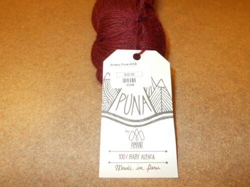 PUNA by AMANO ~ 100/% Baby Alpaca Yarn ~ From Peru ~ #4008 Santa Catalina