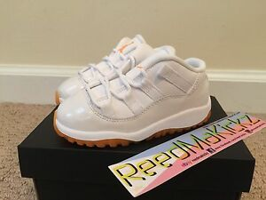 Nike-Air-Jordan-XI-11-Retro-Low-2015-Citrus-Babies-Toddler-sizes-SHIPPING-NOW