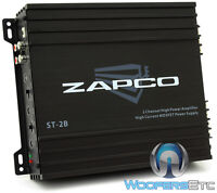 Zapco St-2b Amp 2-channel 200w Rms Component Speakers Class Ab Car Amplifier
