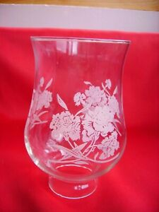 Clear-oil-lamp-shade-with-etched-floral-design
