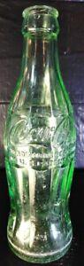 Green-Hobble-Skirt-Coca-Cola-Bottle-RONCEVERTE-W-VA-Patent-Office-6-FL-OZS