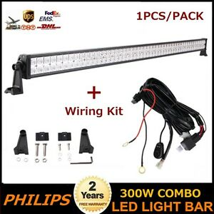 Philips-52inch-300W-LED-Light-Bar-Spot-Flood-Jeep-Wrangler-Ranger-F134-150-Roof