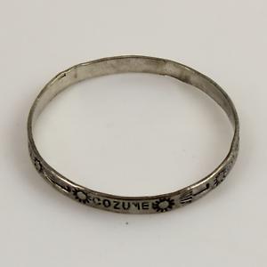 925-Mexico-Taxco-Sterling-Silver-Bangle-Bracelet-w-Cozumel-Design