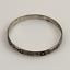 925-Mexico-Taxco-Sterling-Silver-Bangle-Bracelet-w-Cozumel-Design miniature 1