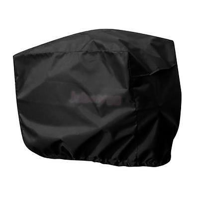 Black Waterproof Outboard Motor Boat Engine Cover Protector fits 10-45HP