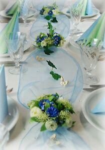 Komplette Tischdeko In Hellblau Fur Geburtstag Konfirmation Taufe