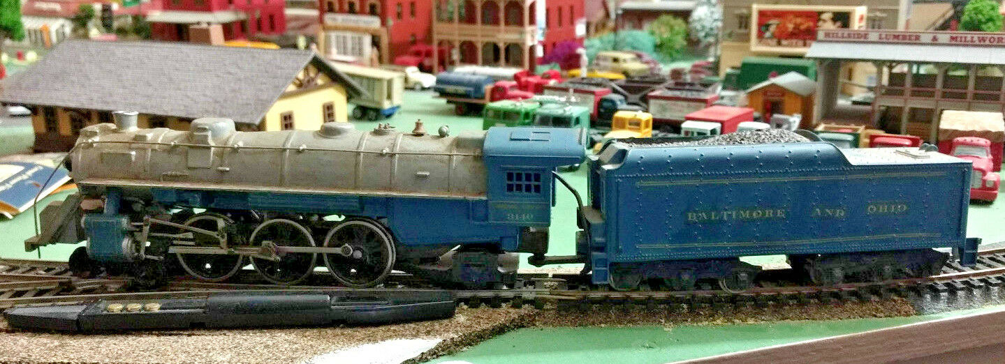 HO scale Baltimore and Ohio 4-6-2 Steam Engine ALL METAL Mantua Vintage