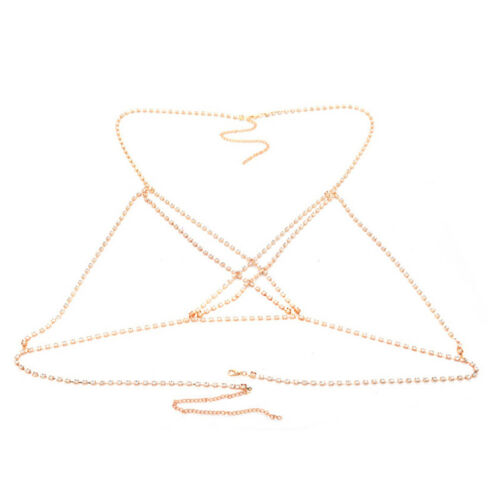 Femmes Full Strass Corps Collier Bijoux BRILLANT STRASS soutien-gorge Body Jewelry