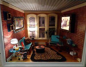 Dollhouse Miniature 1:12 CARPET RUG Cheetah Leopard American Girl ILLUMA ROOM