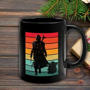 Star-Wars-The-Mandalorian-Mando-The-Child-Baby-Yoda-Retro-Style-Black-11oz-Mug