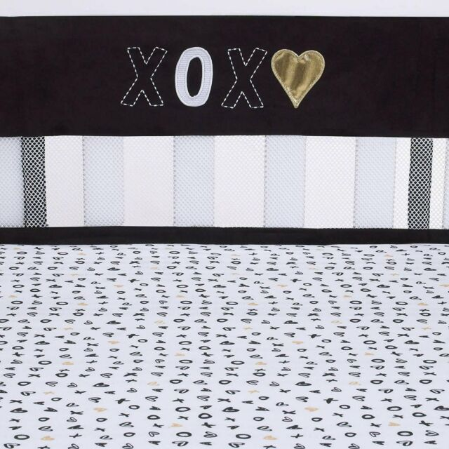 Navy//White Little Bedding by NoJo Splish Splash Secure Me Crib Liner