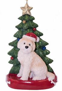 Goldendoodle-Albero-di-Natale-Ornamento-Biondo