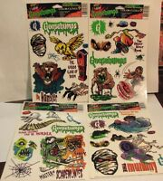 4 1996 Goosebumps Window Cling Color Clings Animation Sticker Sheets