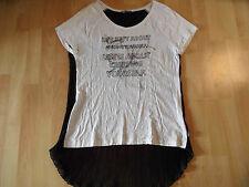 DIDI schönes Shirt Materialmix schwarz weiß Gr. L NEUw. SJ616