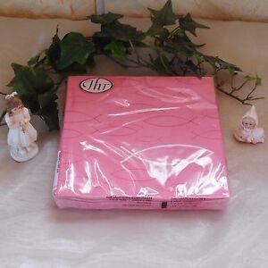 Servietten Kommunion Konfirmation Taufe Deko Fisch Pink Rosa