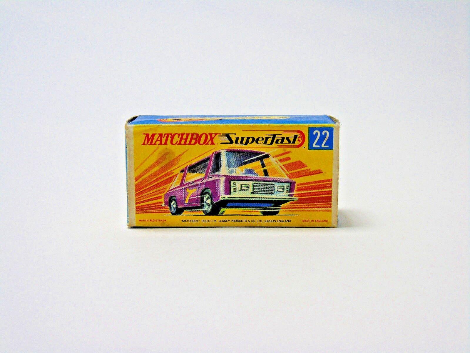 No.22 1970 Matchbox Matchbox Matchbox Superfast Lesney Freeman Intercity Commuter 1:64 Scale Boxed a448fe