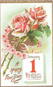CARTOLINA-POSTCARD-A-HAPPY-NEW-YEAR-N-V-FELICE-ANNO-NUOVO-1950-ca-vintage