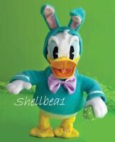 Rare 15 Hallmark Plush Animated Disney Doll Donald Duck Easter Bunny W/ Egg