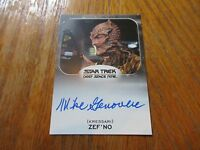 2017 Star Trek 50th Anniversary Mike Genovese As Zef'no Autograph