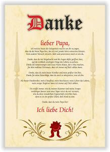 Urkunde für den besten Papa Geschenkkarte Weihnachten Geschenkurkunde Geburtstag