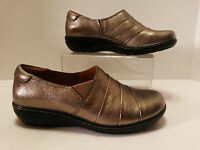 Montana Womens Shoes Us Size 8 (ue 39) Wedge Slip On Grey Metallic