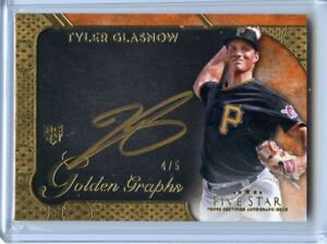 2017-Topps-Five-Star-Golden-Graphs-Tyler-Glasnow-SSP-Auto-RC-4-5-RAYS-HOT