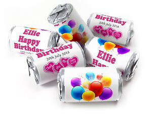 Personalised-Mini-Love-Heart-Sweets-for-Birthday-Age-favours-Silver-Foils-Girl