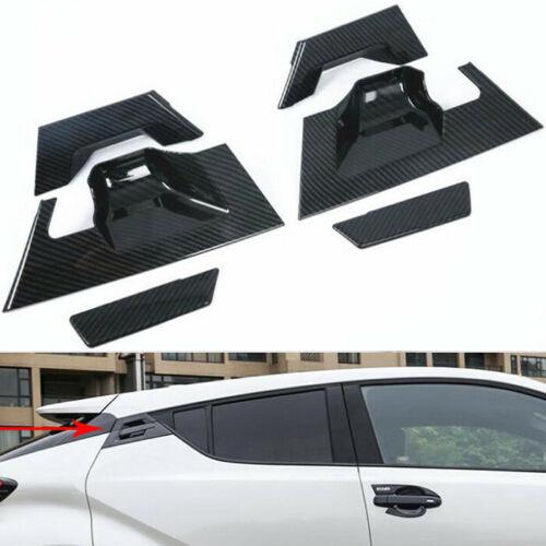 For TOYOTA CHR 2016-2018 Car Rear Door Handle Bowl Cover Trim Carbon Fiber C-HR