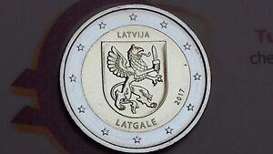 2-euro-2017-LETTONIA-Letgallia-Latgale-Lettonie-Lettland-Latvia