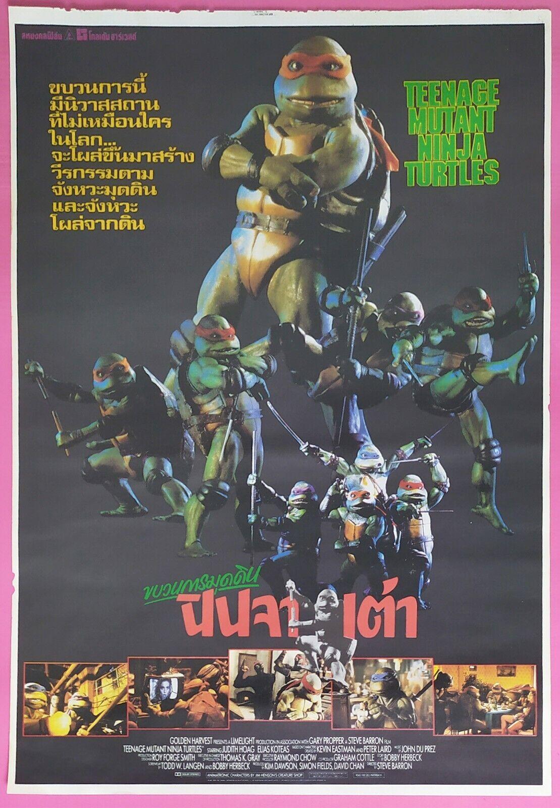Teenage Mutant Ninja Turtles 1990 Thai Movie Poster Original Ebay
