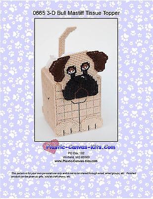 Coaster Set-Plastic Canvas Pattern or Kit 3-D Pug Dog