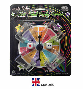 10 Pcs SPIN THE ARROW WHEEL DRINKING GAME Adult Party Shot Glasses Spinner Gift