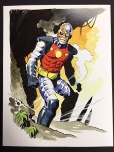 BEWARE-DEATHLOCK-Astounding-Marvel-Superhero-SIGNED-Print-by-Mike-Hoffman