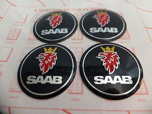 Blue-Saab-93-95-9-3-9-5-900-9000-adhesivo-con-el-logotipo-de-Tapa-Centro-De-Rueda-Placa-55mm-Set-4
