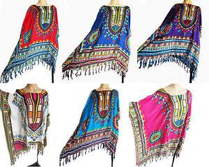 fb5322c4f504b Image is loading Ladies-KAFTAN-PONCHO-tunic-top-one-size-fits-