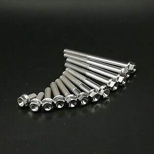 2pcs-TITANIUM-Ti-Hex-Head-Flange-Bolt-M6X10-15-20-25-30-35-40-45-50-55-60-65mm