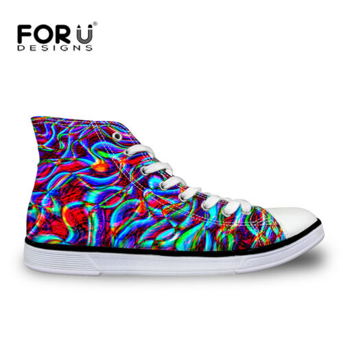 New Mens Canvas Shoes High Top Lace Up Teens Boys Flat Trainers Fashion Sneakers