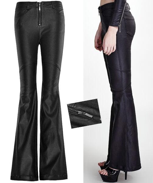 Pantalon patte d'eph évasé gothique lolita fashion vintage huilé 70's Punkrave