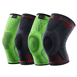 33c4a58cf4 Image is loading Kuangmi-Knee-Sleeve-Support-Compression-Brace-Anti-Slip-