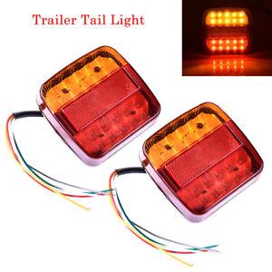 2x-12V-LED-Feux-Indicateur-Lampe-Arriere-Queue-pour-Remorque-Caravane-Camion-BM