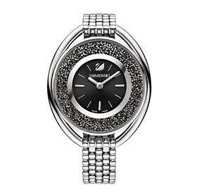 Swarovski-5181664-Crystalline-Oval-Black-Brac-Watch-Swiss-Made-RRP-549