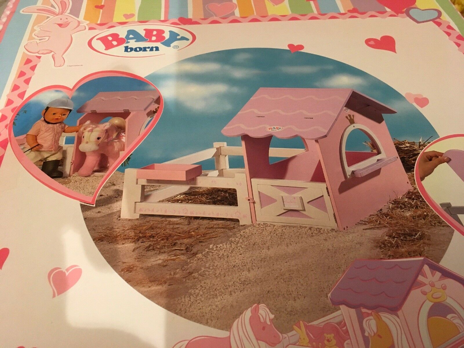 BNIB Zapf Creation Baby Born Rosa Wooden Horse Stable